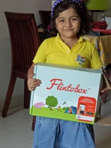 Smiling Angel with gadget free flintobox