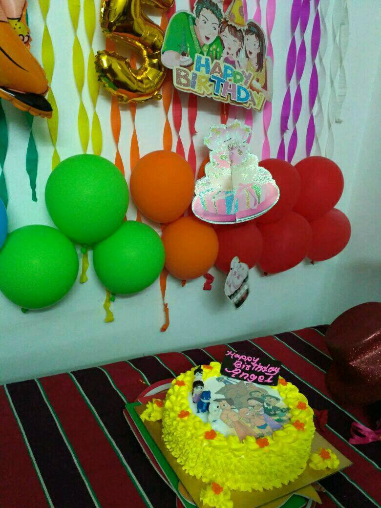 Decorate with colorful balloons