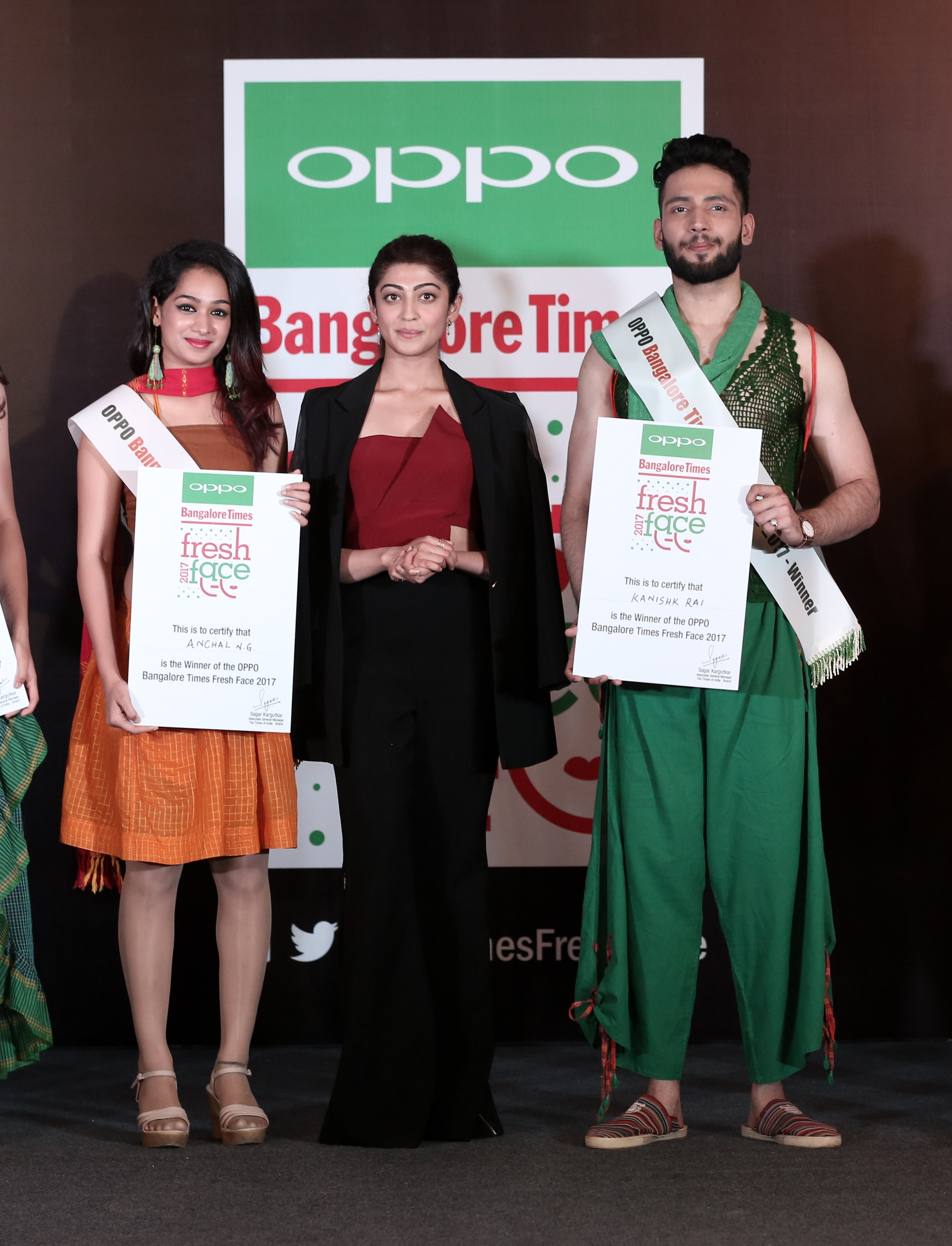 Winners with Pranitha - Oppo Times Fresh Face