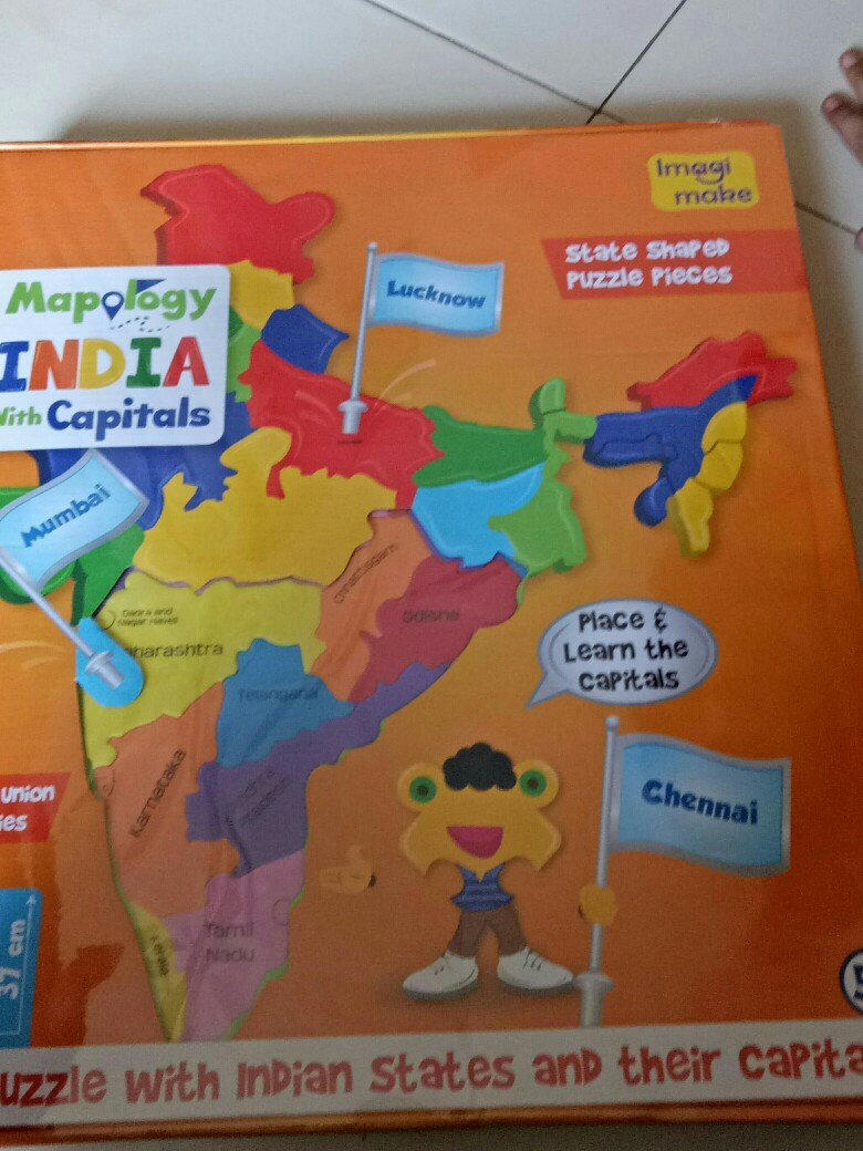 Puzzle of Indian states for better imagination