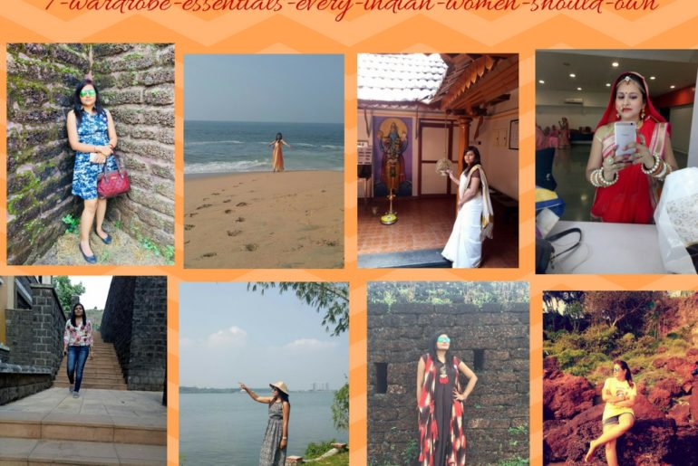 collage of indian must have in wardrobe