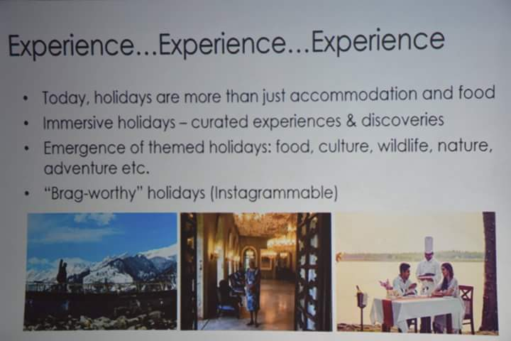Experience is the new way to holiday